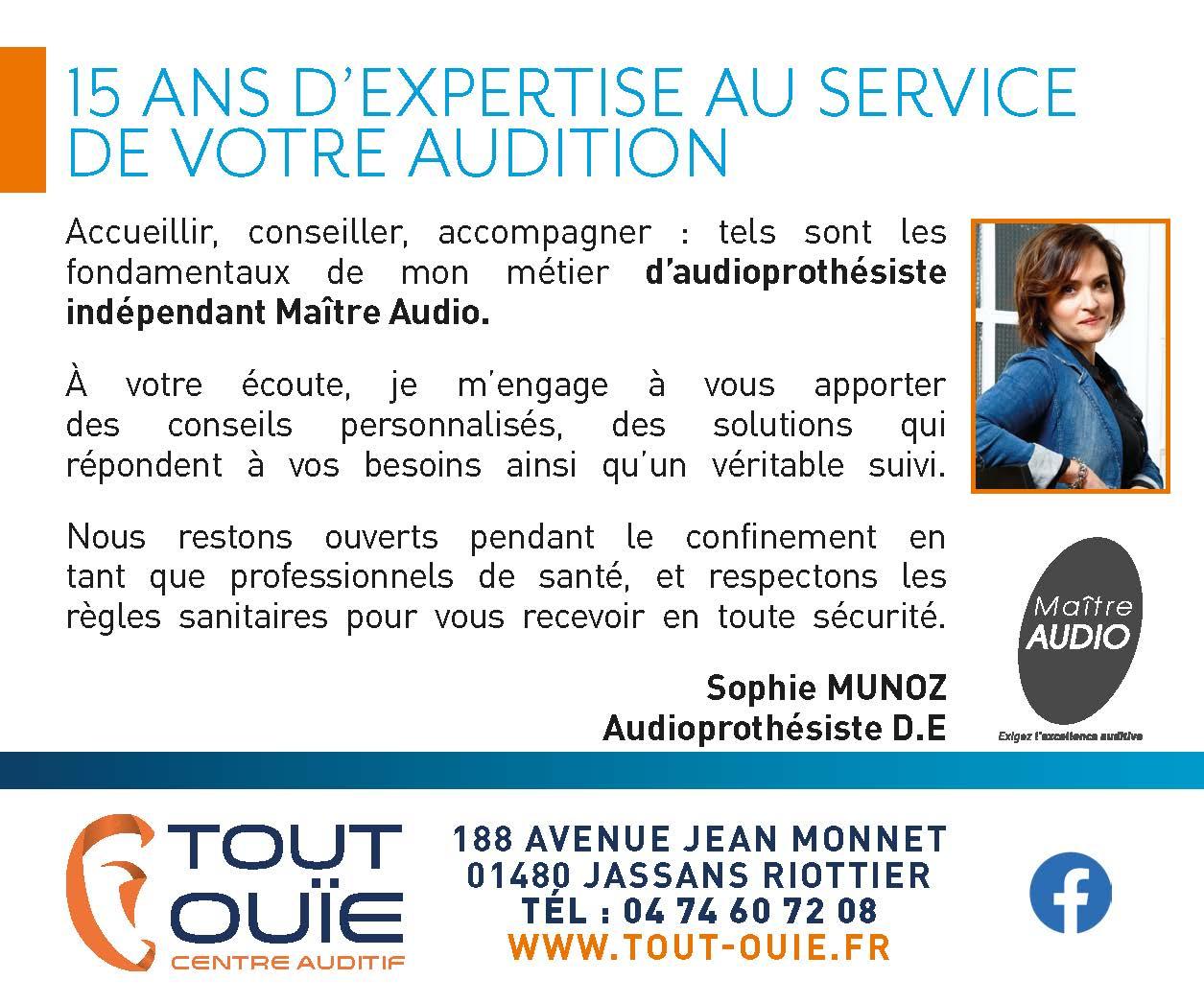 15 ANS D'EXPERTISE AU SERVICE DE VOTRE AUDITION maître audio